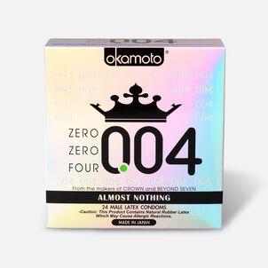 Okamoto .04 mm Zero Zero Four Condoms, 24 ct
