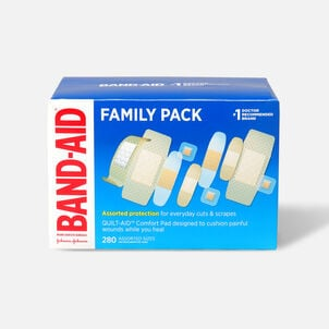 Band-Aid Sheer Variety Pack Assorted, 280 ea