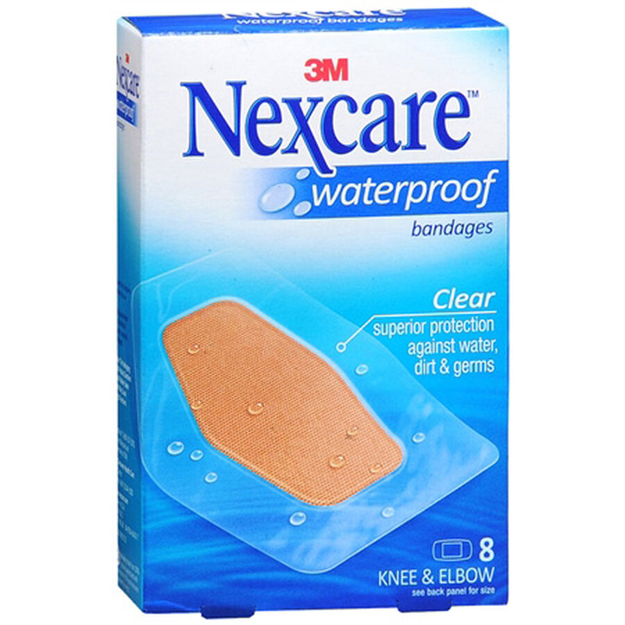Nexcare Waterproof Clear Bandage, Elbow and Knee, 8ct., , large image number 0