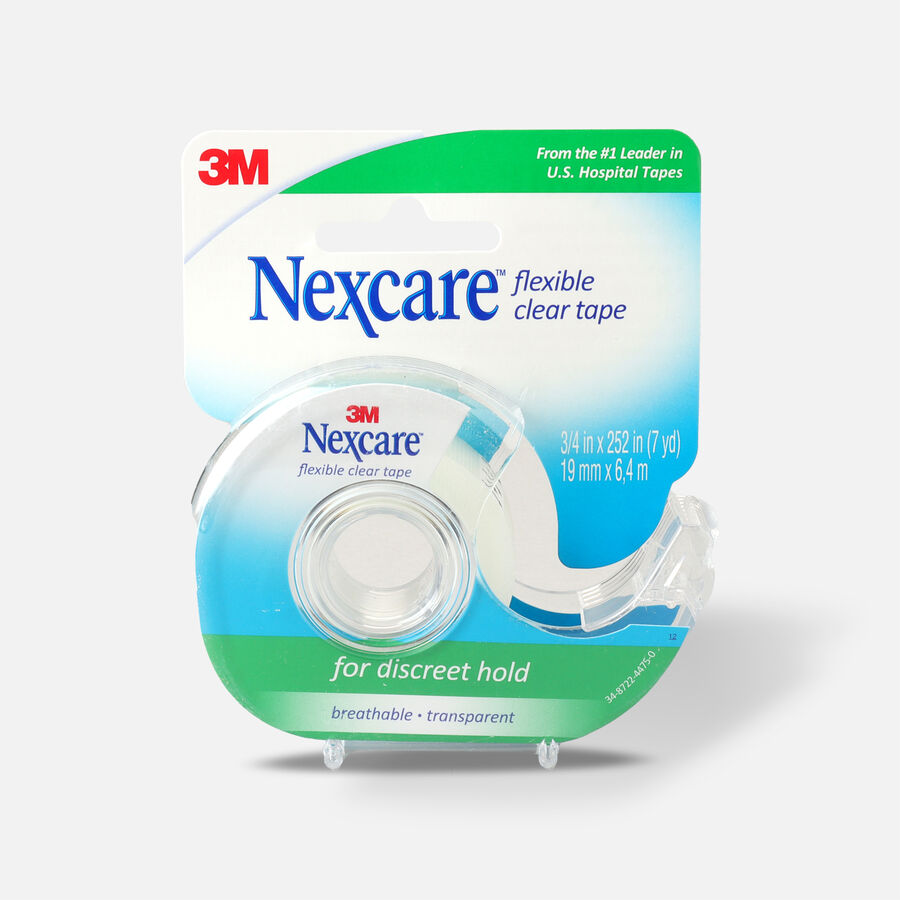 Nexcare First Aid Tape with Dispenser, Flexible Clear, 3/4 in. x 252 in. , 1 ea, , large image number 0