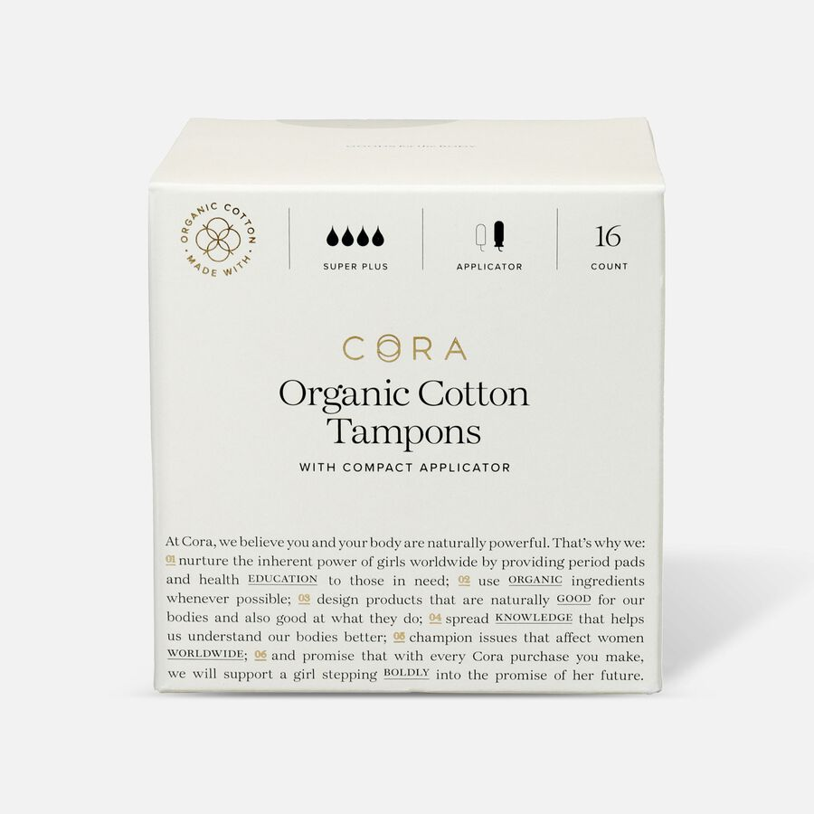 Cora Organic Cotton Applicator Tampons, 16 ct, , large image number 4
