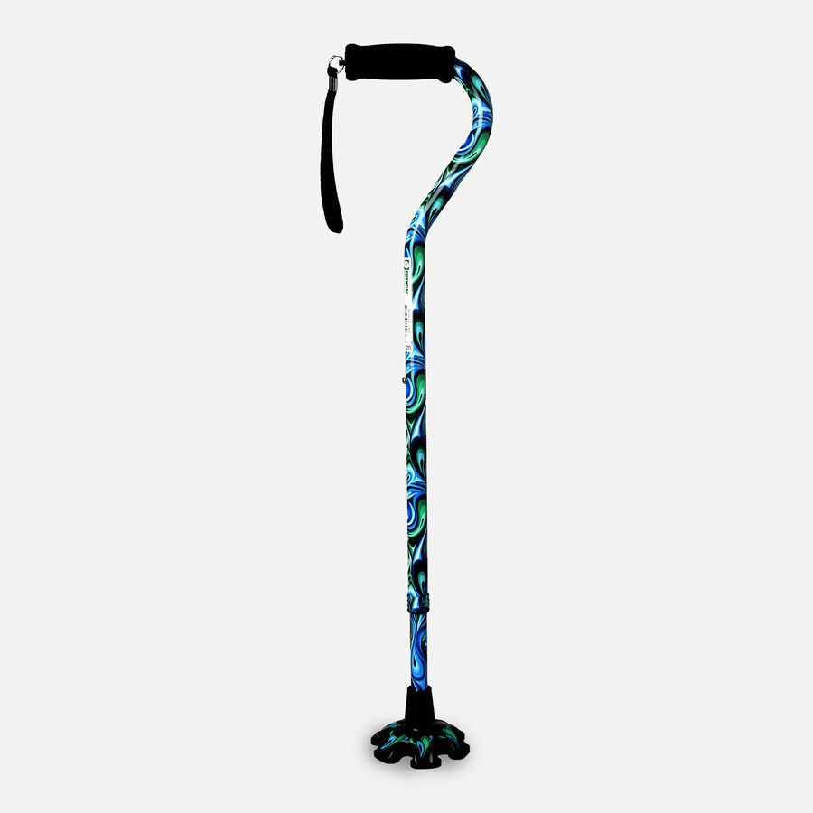 Essential Medical Supply Couture Offset Cane with Matching Tip, , large image number 3