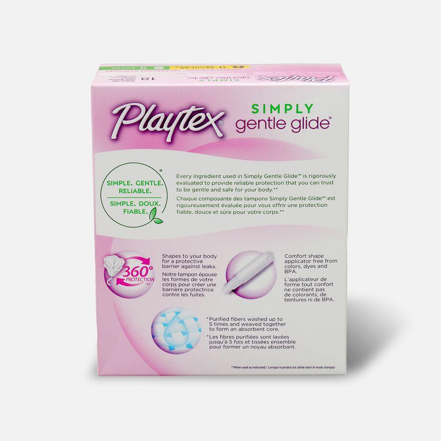 Playtex Gentle Glide Tampons, Lightly Scented Multipack, 18ct (Reg/Super), , large image number 1