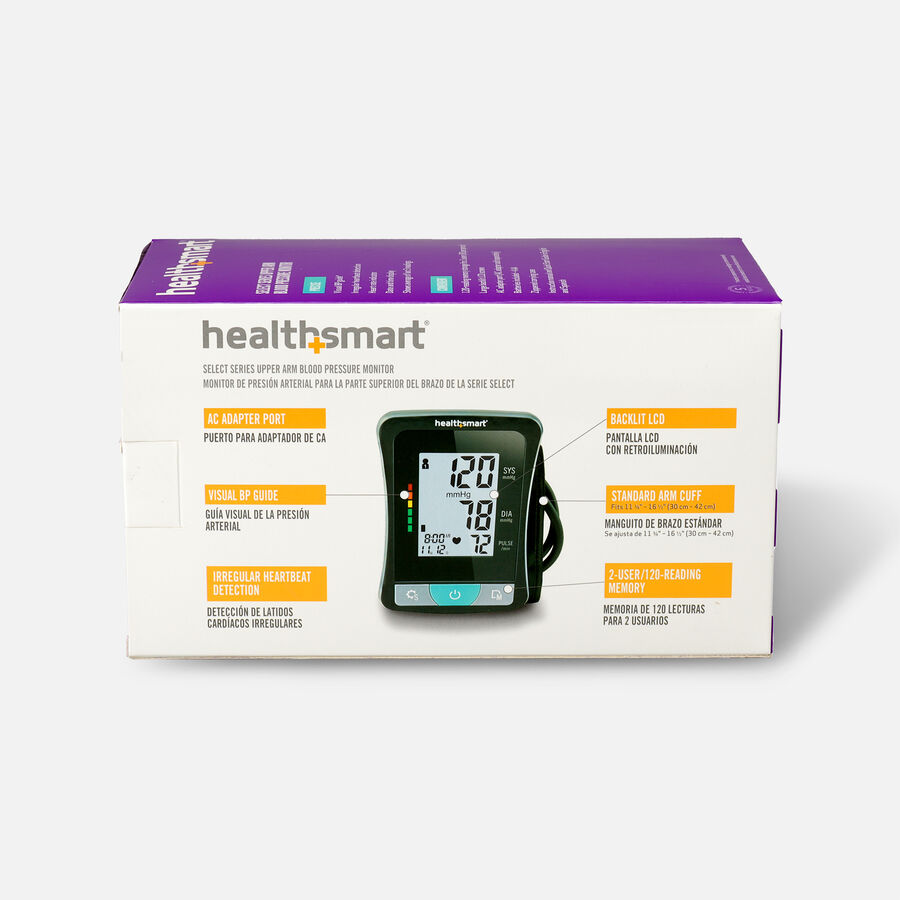 HealthSmart Upper Arm Blood Pressure Monitor with LCD Display, , large image number 1