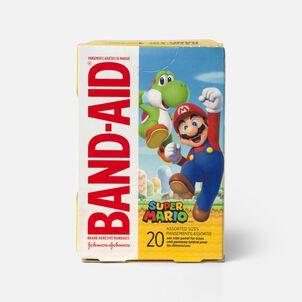 Band-Aid Super Mario Adhesive Bandage, 20 ct