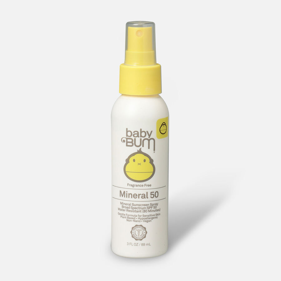Baby Bum Mineral SPF 50 Sunscreen Spray-Fragrance Free, 3oz., , large image number 0