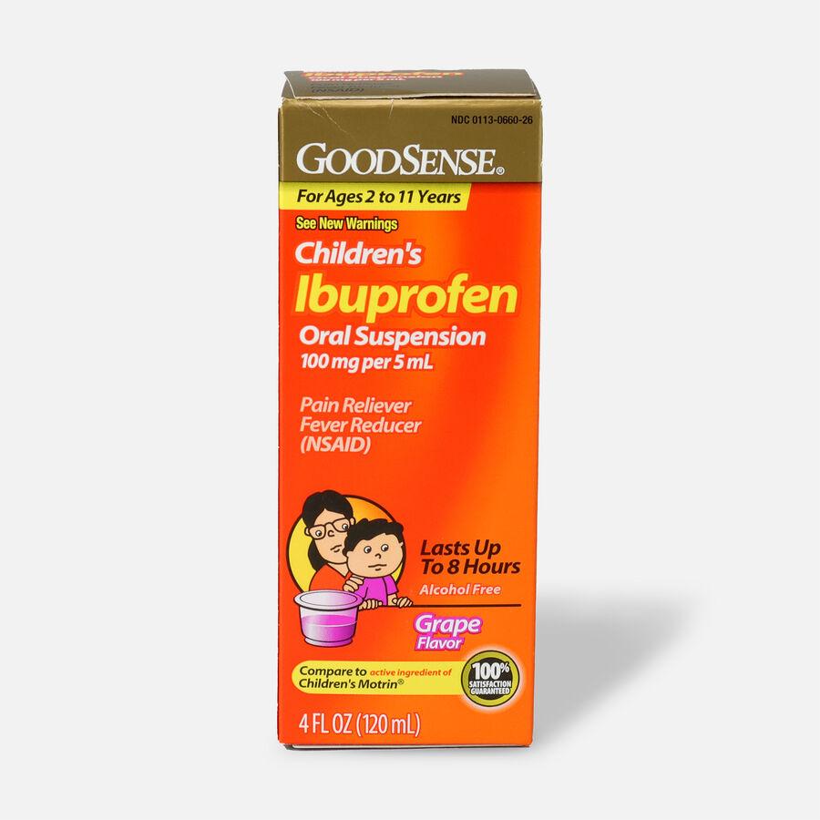 GoodSense® Children's Ibuprofen 100mg Oral Suspension, 4 fl oz, , large image number 2