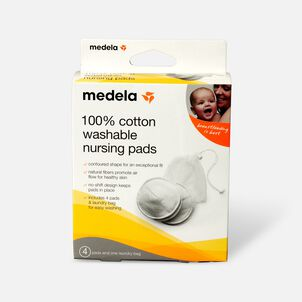 Medela 100% Cotton Washable Nursing Bra Pads, 4 ea