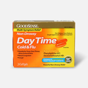 GoodSense® DayTime Cold & Flu Multi-Symptom Relief Softgels, 24 ct