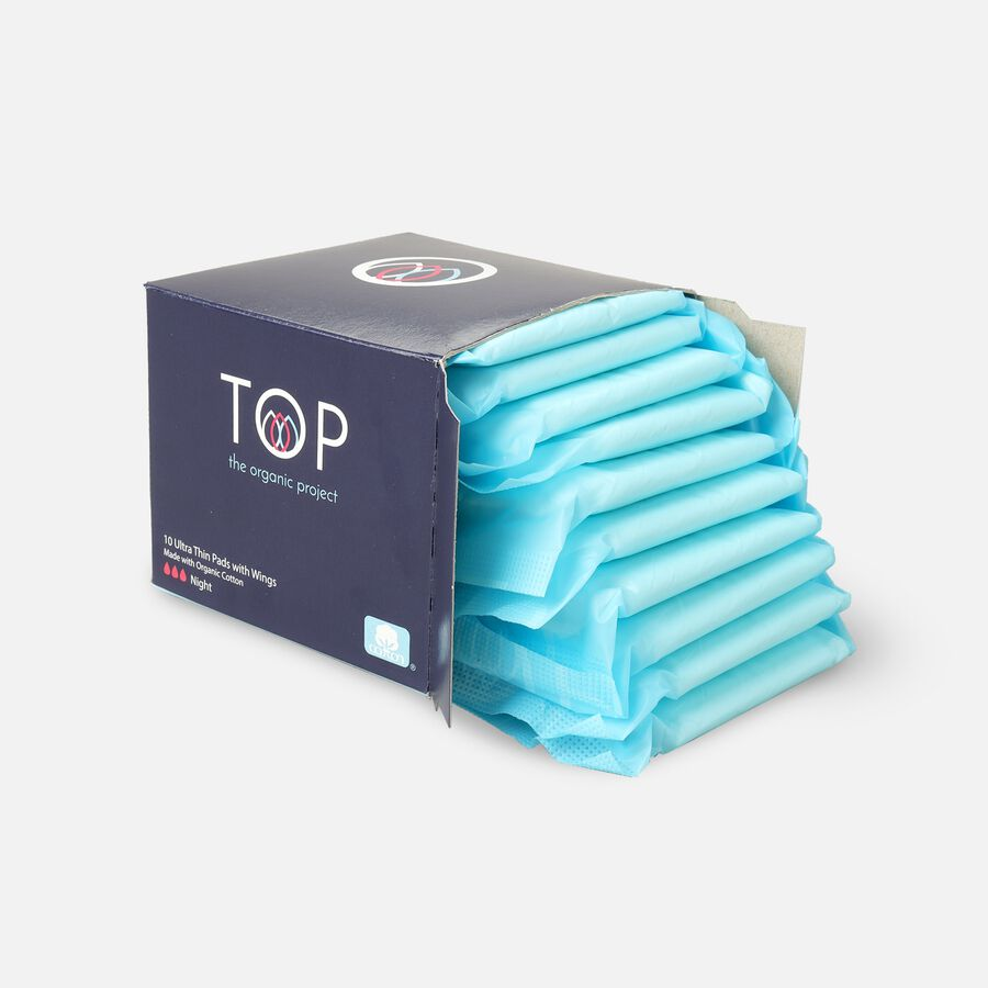 TOP Organic Cotton Ultra Thin Period Pads with Wings, , large image number 6