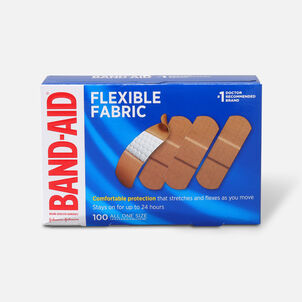 Band-Aid Flexible Fabric Adhesive Bandages, One Size, 100 ct
