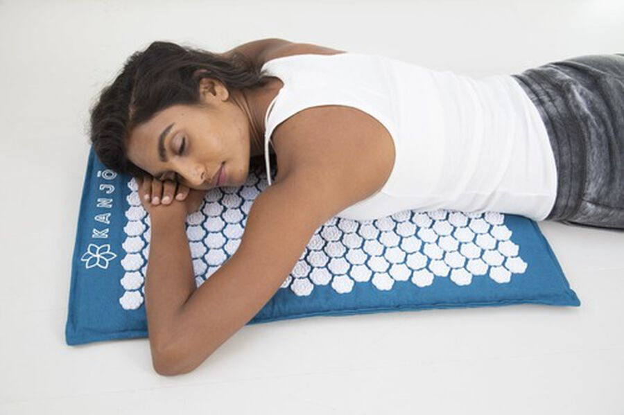 Kanjo Memory Acupressure Mat Set with Pillow, Sapphire, , large image number 8