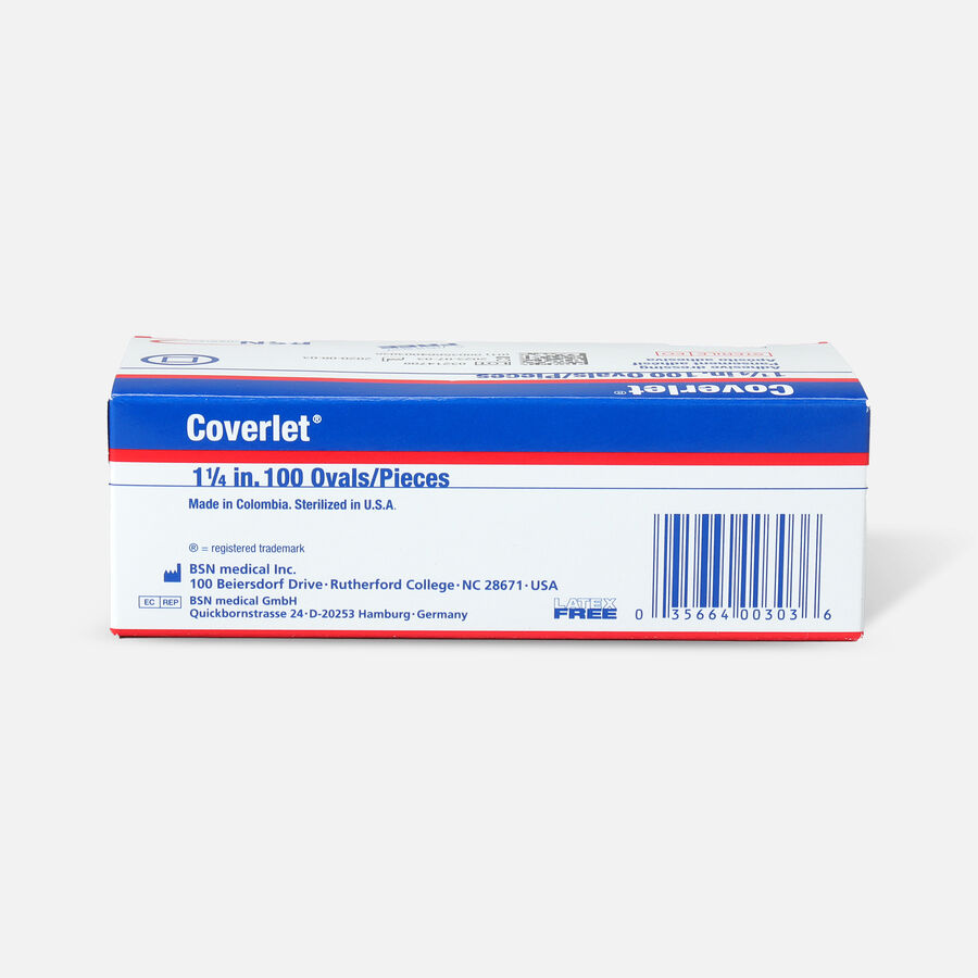 """Coverlet Spots Oval Adhesive Bandage, 1-1/4"""" - 100ct, , large image number 1"""