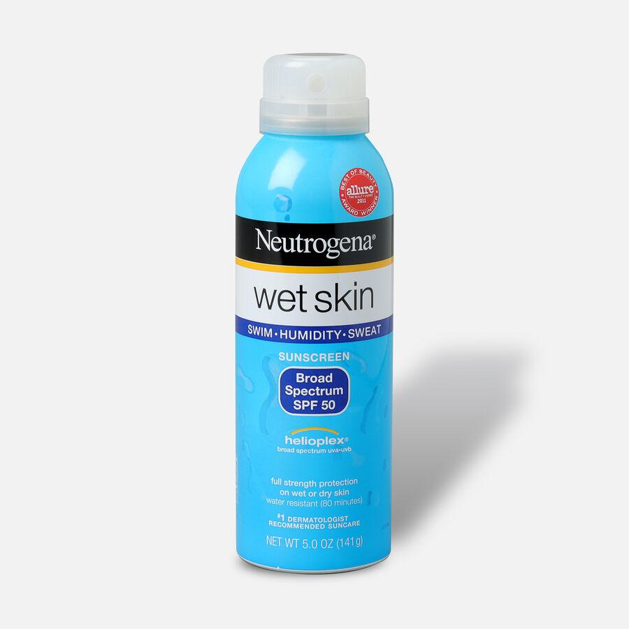 Neutrogena Wet Skin Sunscreen Spray, SPF 50, 5 oz, , large image number 0