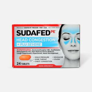 Sudafed PE Sinus Head Congestion + Flu Severe Non-Drowsy Tablets 24 ct