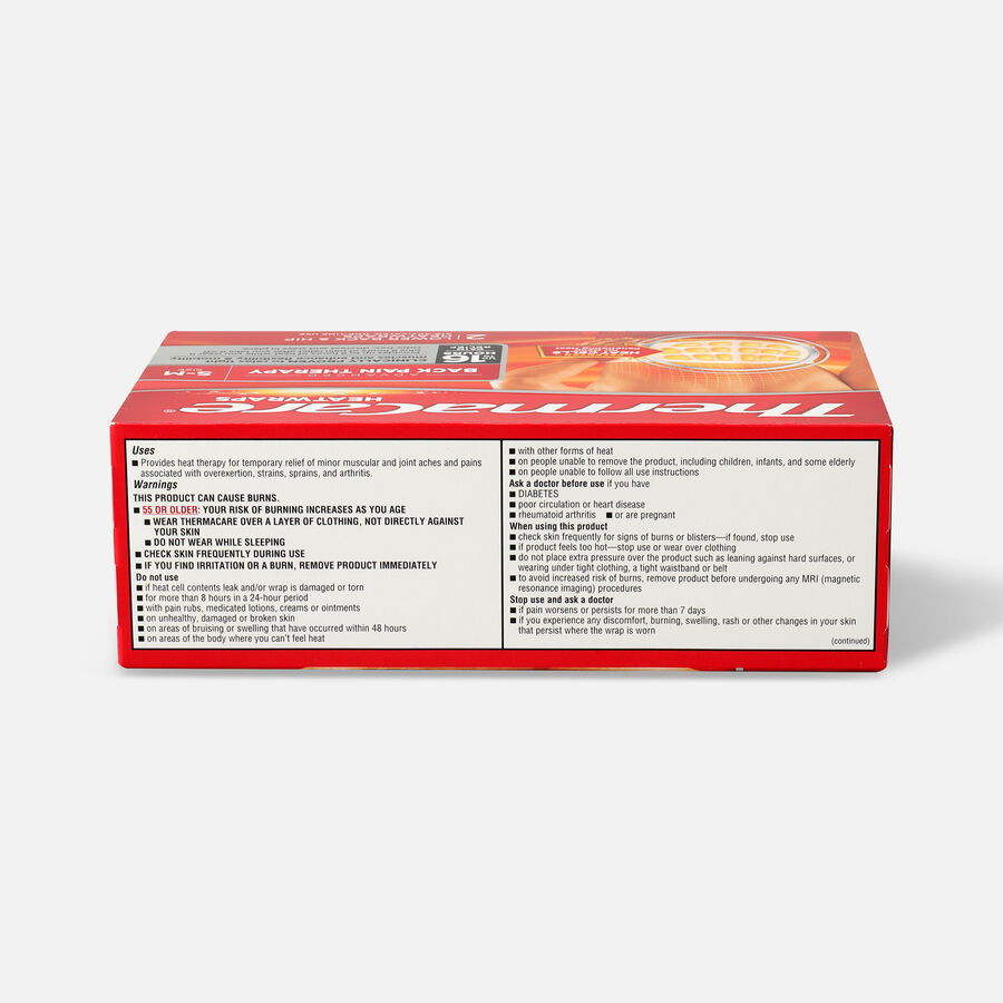 Thermacare Heat Wrap 8HR, Small/Medium, 2 ct, , large image number 1
