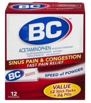 BC Powder, Max Strength Sinus Congestion, 12ct.