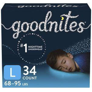 Goodnites Youth Pants for Boys, Giga Pack
