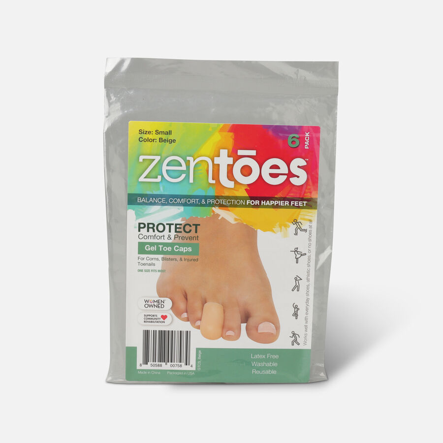 ZenToes Small Gel Toe Cap and Protector - 6 Pack, , large image number 0