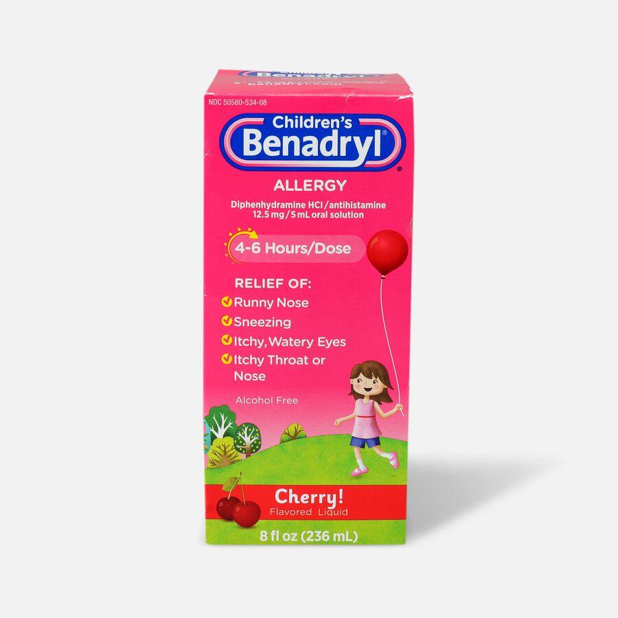 Children's Benadryl Oral Solution, Cherry Flavored, 8 fl. oz., , large image number 0