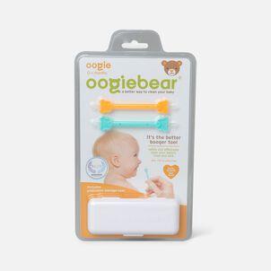 Oogiebear Baby Booger Picker with Case, 2-Pack, Orange/Seafoam