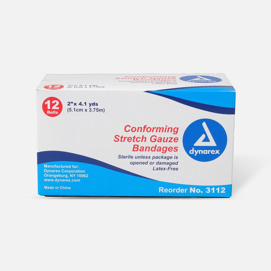 Dynarex Conforming Stretch Gauze Bandages Non Sterile, 12 Rolls, , large image number 0