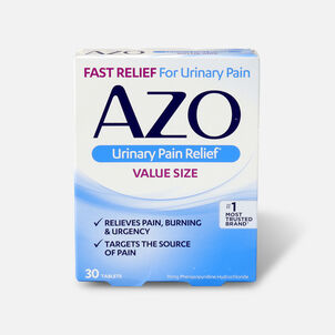 AZO Standard Urinary Pain Relief Tablets, 30 ea