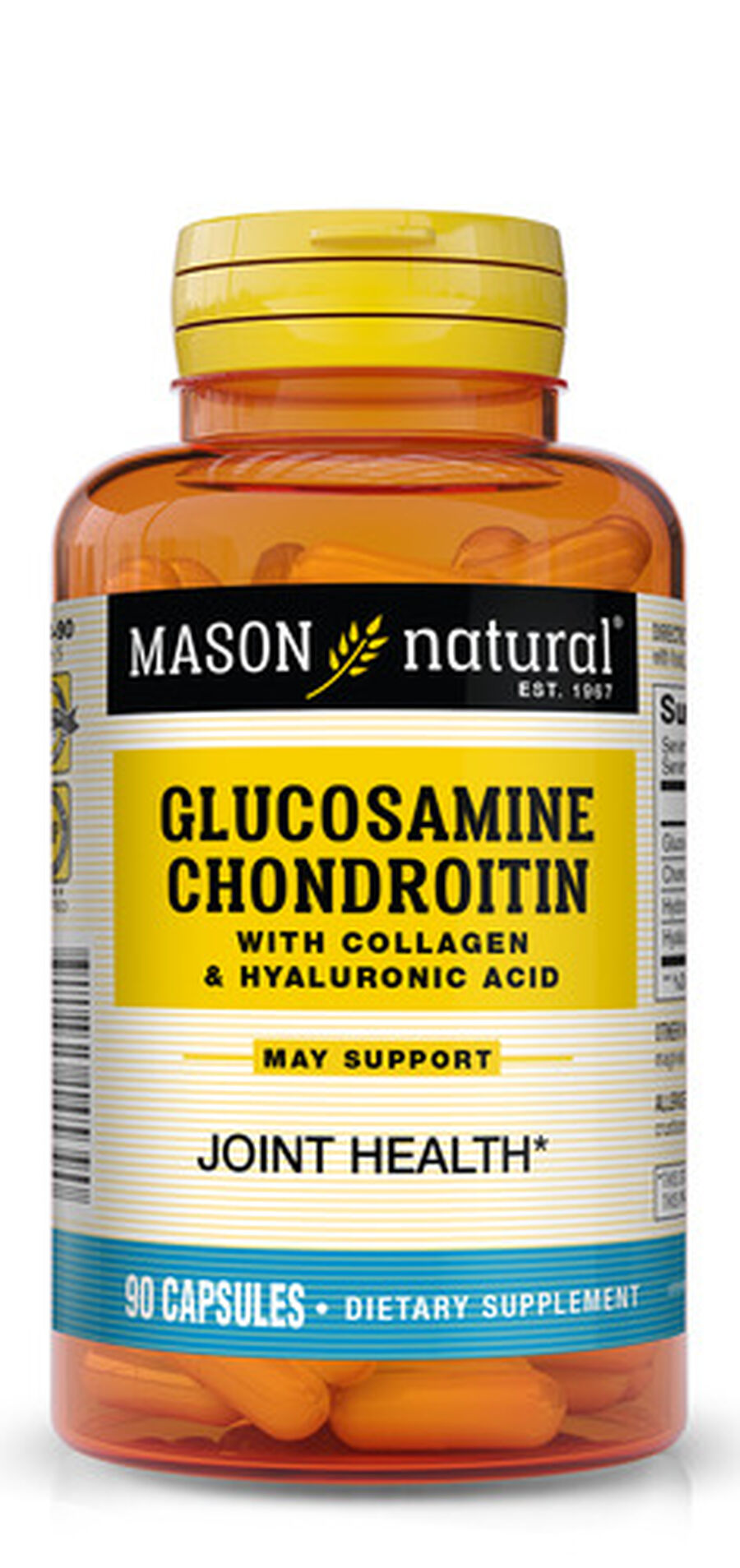 Mason Natural Glucosamine Chondroitin Advance with Collagen & Hyaluronic Acid, Capsules 90 ea, , large image number 0