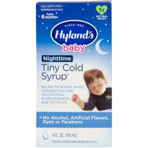 Hyland's Baby Nighttime Tiny Cold Syrup, 4 oz