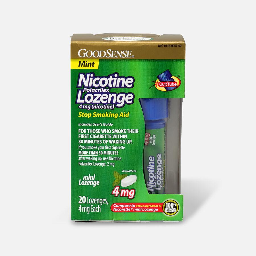 GoodSense® Mini Nicotine Polacrilex Lozenge Quit Tube Mint 4 mg, 20 ct, , large image number 0