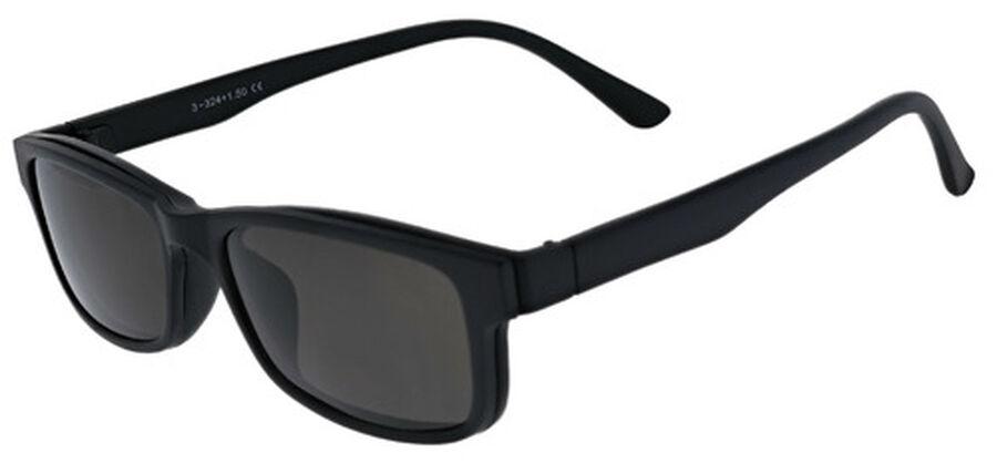 Sunglass Reader with Magnetic Detachable Polarized Lens, +2.50, Black/Smoke, Black/Smoke, large image number 1