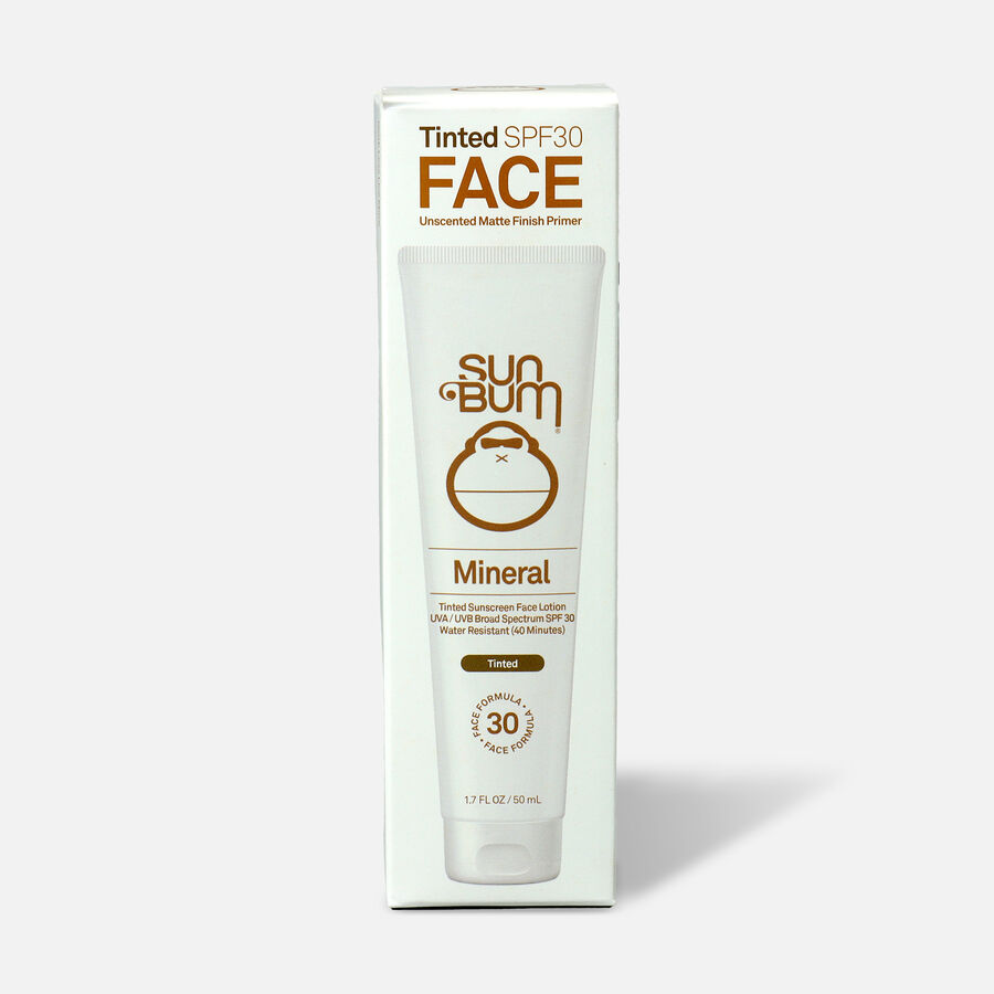 Sun Bum SPF 30 Mineral Sunscreen Tinted Face Lotion, 1.7 oz, , large image number 0