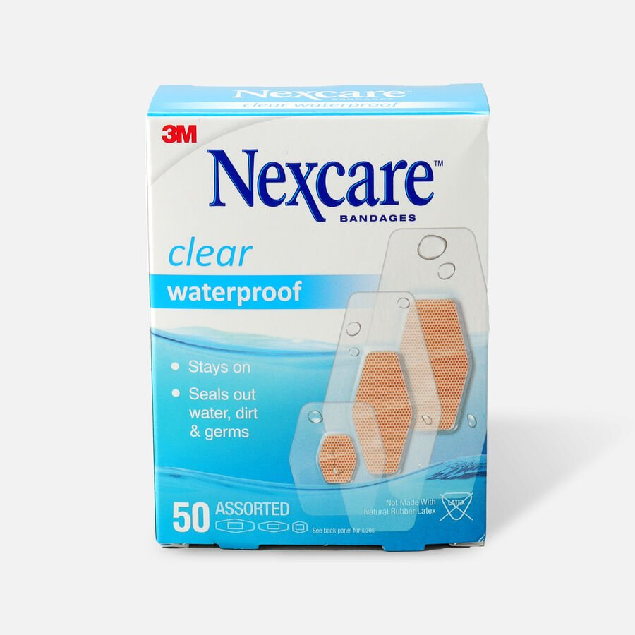 Nexcare Waterproof Clear Bandage, Assorted Sizes, , large image number 0