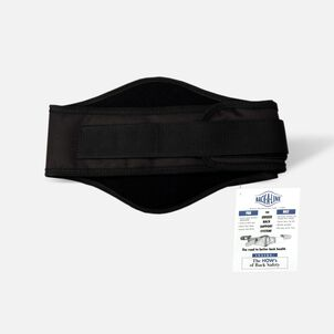 Back-A-Line Back Support with Lumbar Pad, Black