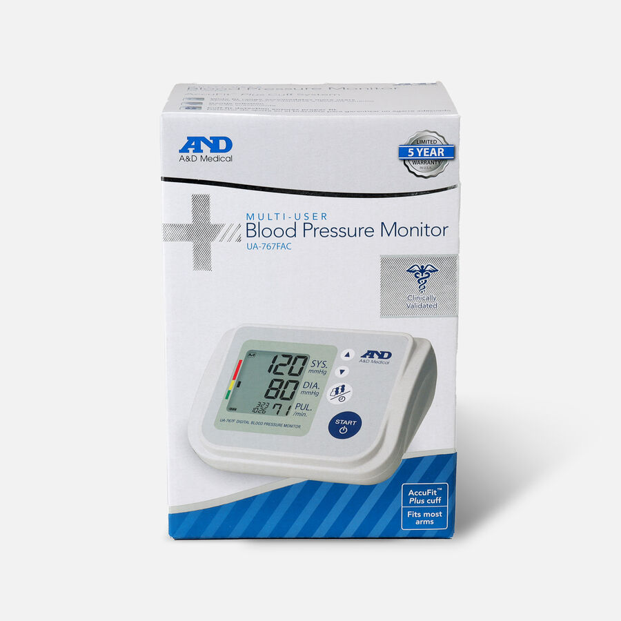 A&D AccuFit™ Medical Upper Arm Blood Pressure Monitor with Plus Adjustable Cuff, , large image number 0