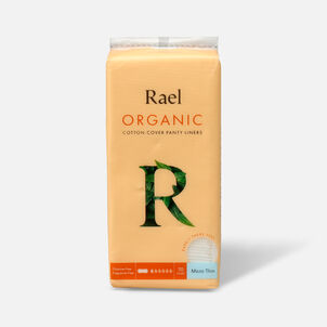 Rael Micro Thin Organic Cotton Cover Panty Liners - Regular, 70ct