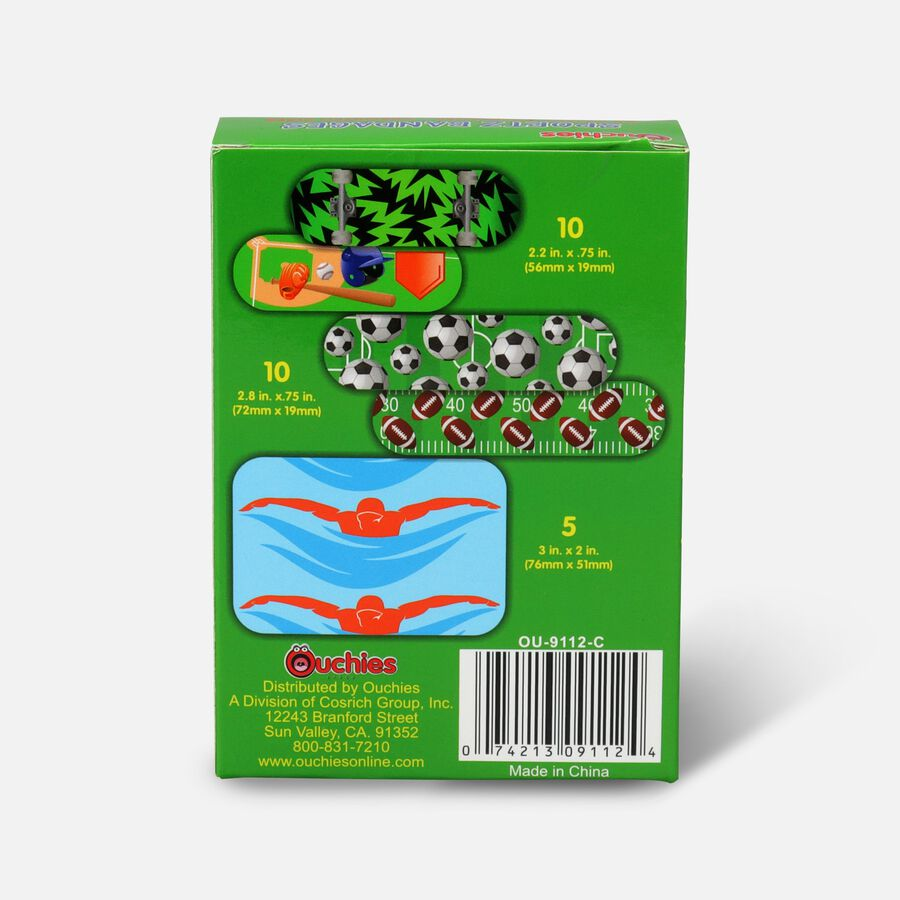 Ouchies Sportz Bandages for Kids, 25 ct, , large image number 1