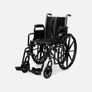 """Drive Silver Sport 2 Wheelchair, 16"""", Swing Away Footrests"""