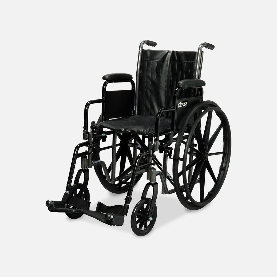 Drive Silver Sport 2 Wheelchair, Swing Away Footrests, , large image number 0