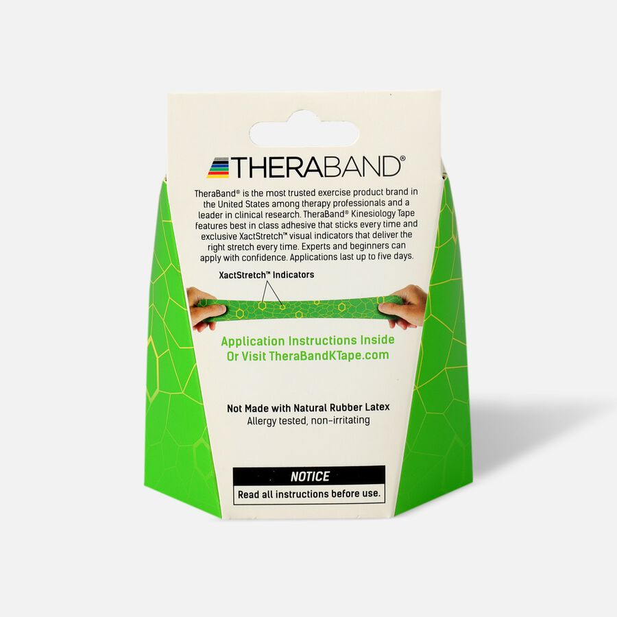Theraband® Kinesiology Tape Precut Roll Green/Yellow, 20 ct, , large image number 1