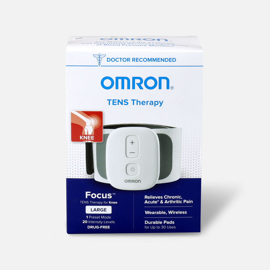 OMRON Focus TENS Therapy for Knee, Wearable, Wireless, Large, , large image number 0