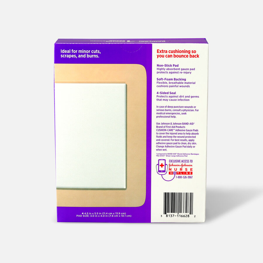 Band-Aid All-in-One Adhesive Gauze Pad, Large - 4ct, , large image number 1