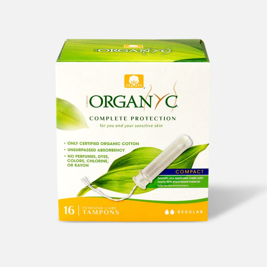 Organyc Compact Tampons with Eco-Applicator, 16ct, , large image number 1