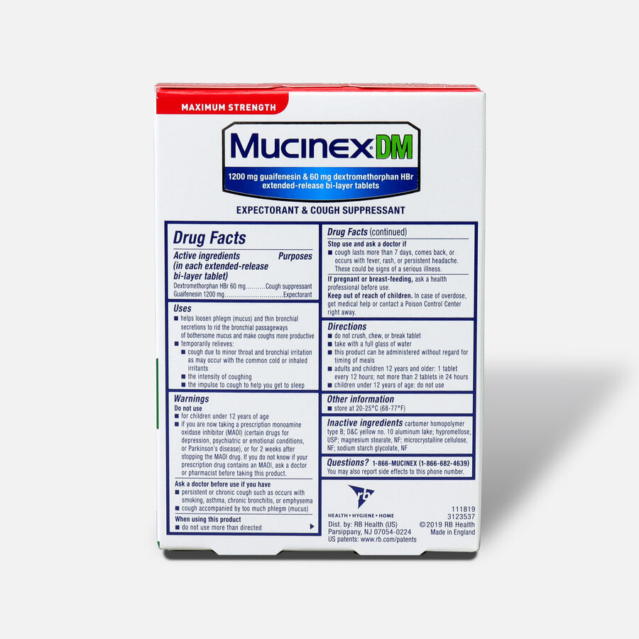 Mucinex Max Strength Extended Release Bi-Layer Tablets, 14 ct, , large image number 1