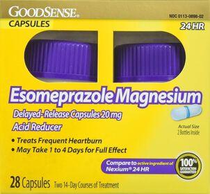 GoodSense® Esomeprazole Magnesium 20 MG 24-HR Delayed Release Capsules, 2/14 ct