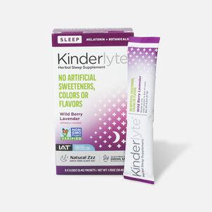 Kinderlyte Herbal Sleep Supplement Powder Wild Berry Lavender, 6 Count
