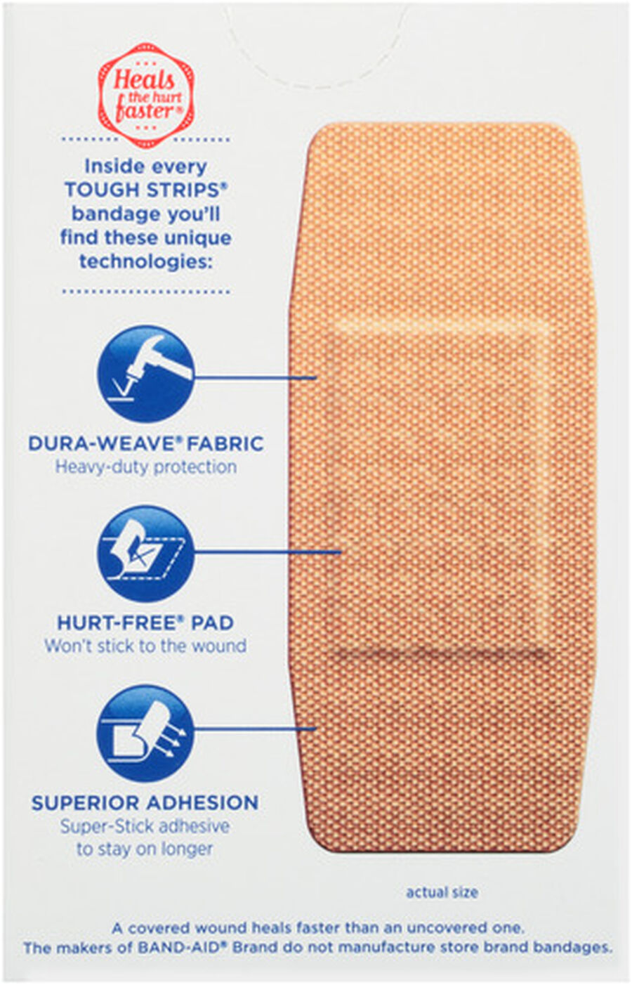 Band-Aid Tough-Strips, Extra Large, 10 ea, , large image number 1