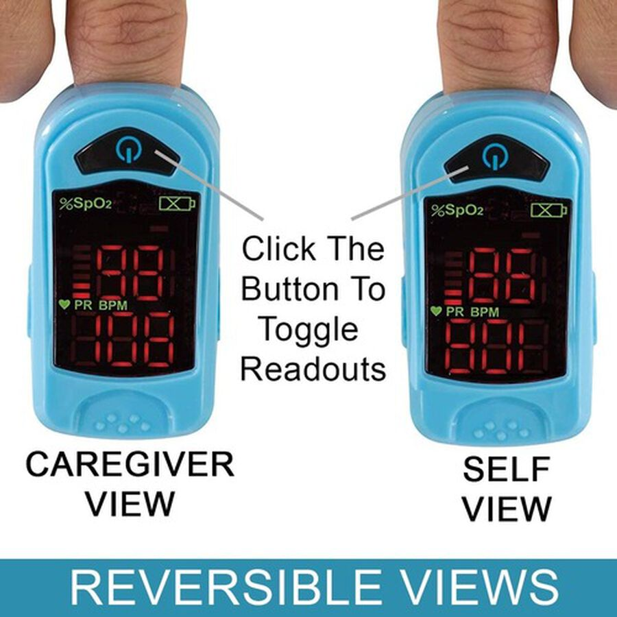 Carex Finger Pulse Oximeter Oxygen Saturation Monitor for Pediatric and Adult, , large image number 7