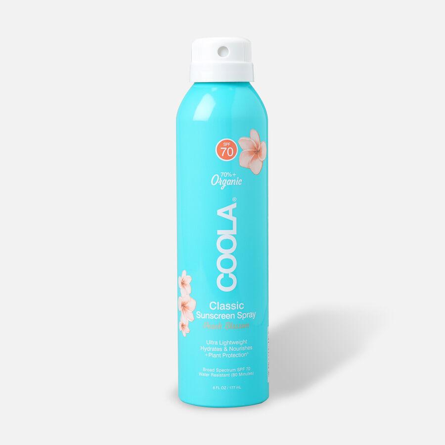 Coola Classic Body Organic Sunscreen Spray SPF 70 Peach Blossom, 6oz., , large image number 0