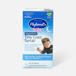 Hyland's Baby Nighttime Tiny Cold Syrup, 4 oz